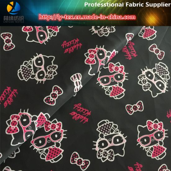 Kitty Printing, Polyester Printed Taffeta Fabric for Children Garment/Lining pictures & photos