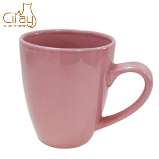 11oz 350ml Ceramic Porcelain Pink Color Glazed Coffee Tea Water Mug