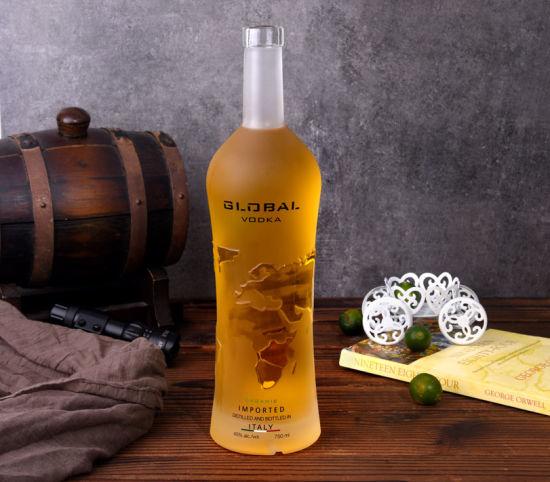 Super Flint Glass Rum Bottles Glass Liqueurs Bottles
