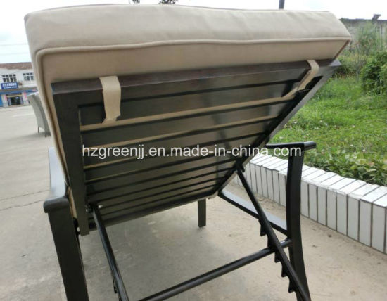 Power Coating Aluminium Chaise Lounger Outdoor Sunbed Furniture pictures & photos