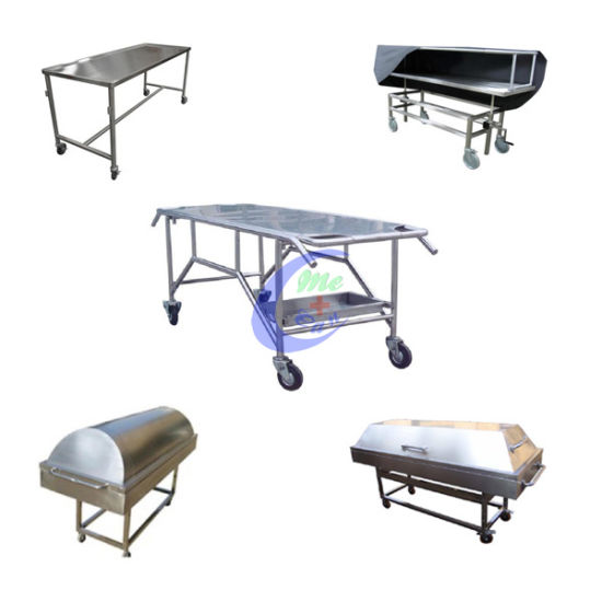 with Cover Stainless Steel Mortuary Trolley pictures & photos