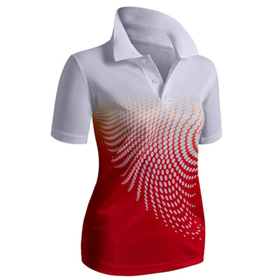 Wholesale Sublimated Women Polo Shirt China Factory Any Size Colors