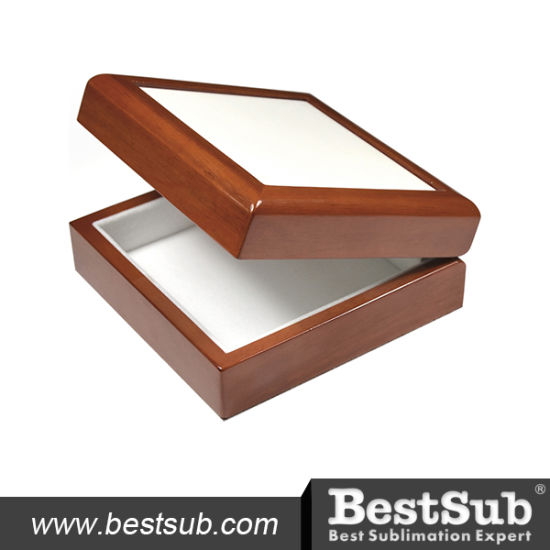 "Bestsub 6""X6""Ceramic Tiled Wooden Jewelry Box (SPH66BR) pictures & photos"