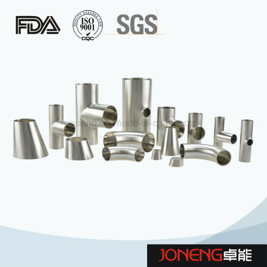 Stainless Steel Sanitary Welded Long-Type 45D Elbow Pipe Fitting (JN-FT2009) pictures & photos
