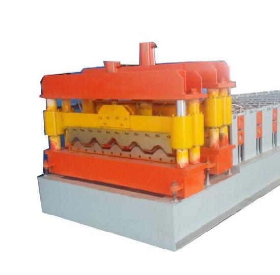 PLC Control Glazed Tile Roll Forming Machine Step Tile