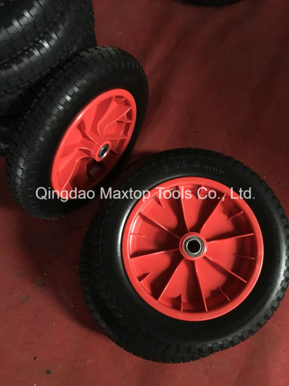 Flat Free PU Foam Wheel Barrow Wheel pictures & photos