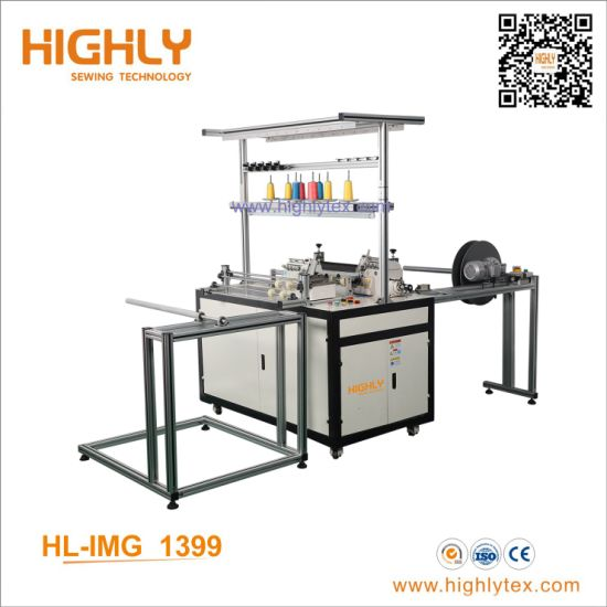 High Speed Double Heads Inverted Overlock Sewing Machine