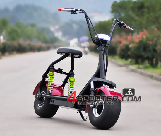 2016 Best Quatity Citycoco 1000W Brushless Motor and Steel Frame Motorcycle Electric Scooter pictures & photos