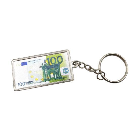 European Travel Souvenir Euro Metal Keychain