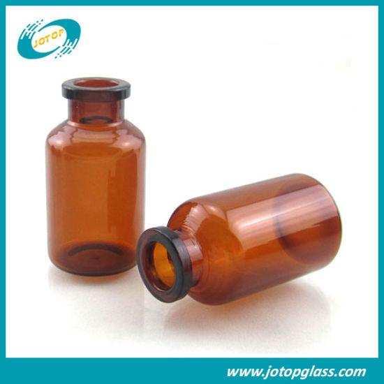 ISO 20ml Neutral Amber Glass Vial for Pharmaceutical Packaging