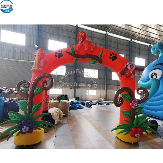 Custom Illumination Advertising Inflatable Animal Air Arch