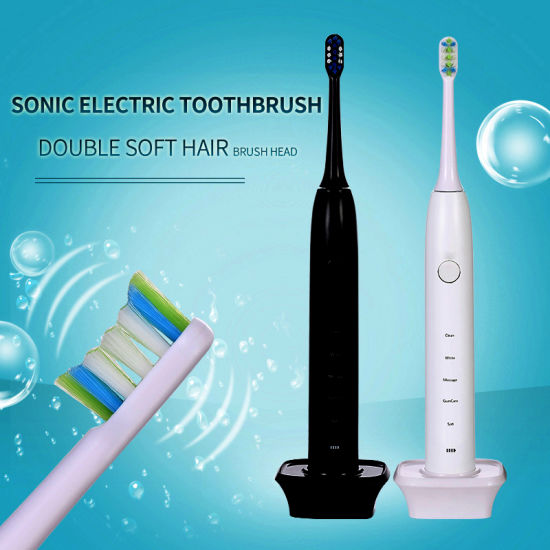 Power Electric Toothbrush Rechargeable for Adults with Timer Care Your Teeth Like Dentist Teeth Whitening Spinning Toothbrushes with 2 Heads pictures & photos