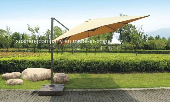 346ee5fe45 Patio 10FT Square Outdoor Rotating Roman Garden Umbrella, Parasol with  Cross Base