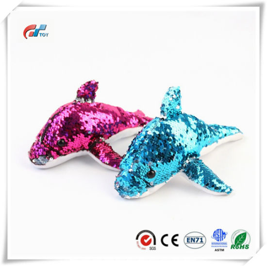 Dolphine Sea Animals Plush Toy with Sequins for Kids