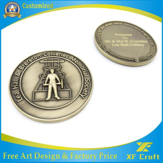 Professional Customized Metal Zinc Alloy Soft Enamel Challenge Souvenir Coins in China Factory (XF-CO07) pictures & photos