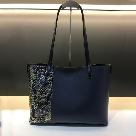 China Manufactory High Quality Tote Bag Latest Ladies Big Snake Texture Pattern Leather Custom Designer Brand Fashion Handbags