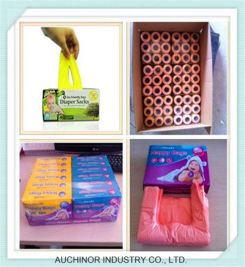 Plastic Nappy Sacks Disposable Fragranced Baby Diaper Bag Customerized Design pictures & photos