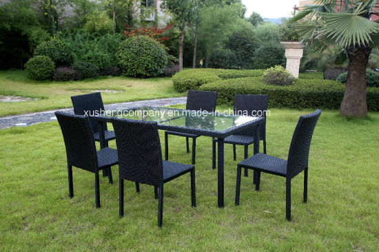 7 PCS of Aluminum Rattan Table+ Chair Set pictures & photos