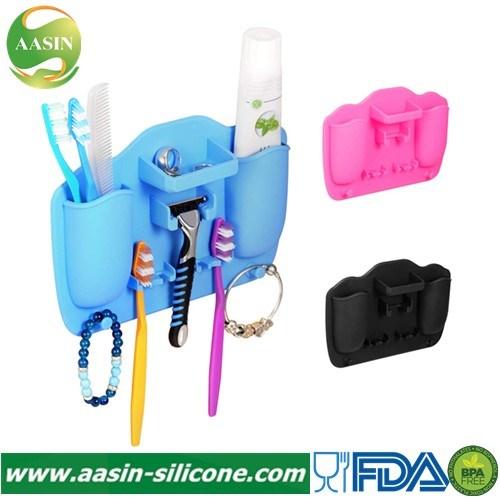 Silicone Toothbrush Holder Bathroom Storage Organizer