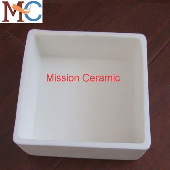 High Purity 99.7% High Temperature 1800c Alumina Ceramic Saggar pictures & photos