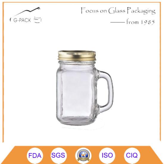 Food Grade Glass Coffee Mug Fitting Metal Cap