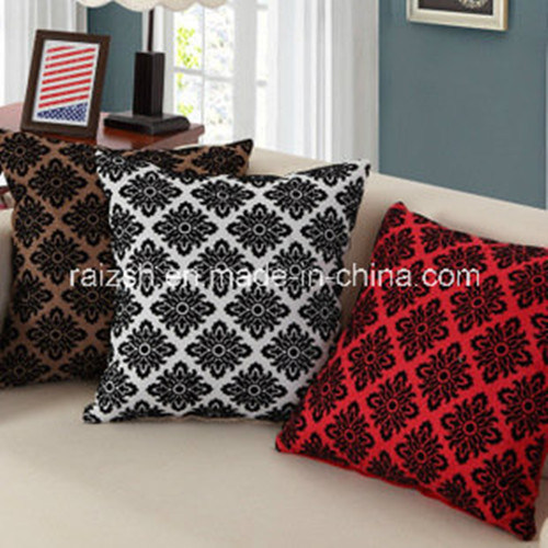 Linen Flocking Sofa Cushion Covers