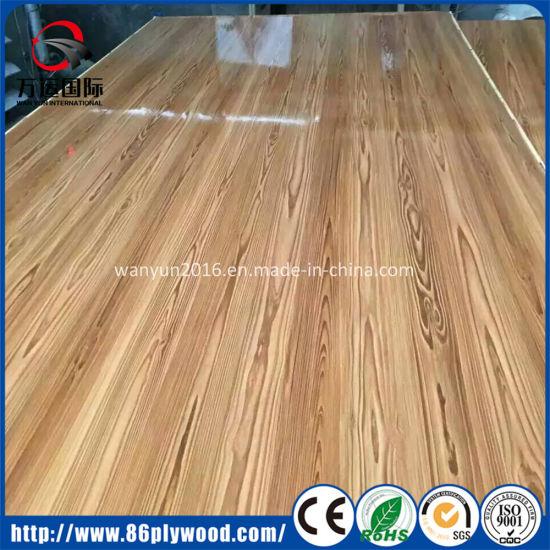 China pre laminated wood texture melamine mdf boards
