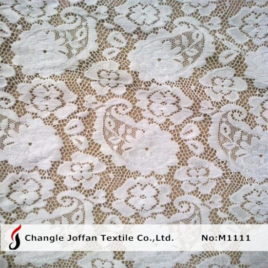 Jacquard Nylon Lace Fabric Knitted Lace Wholesale (M1111)