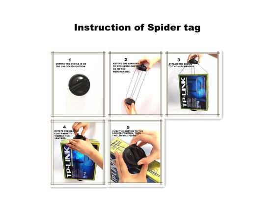 China EAS Self Alarm Anti-Theft Tag Hard Tag Spider Tag