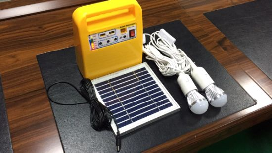 Portable 6W 8W 10W DC Solar Energy Power System Lighting Kits with Charge for Home pictures & photos