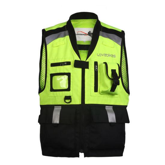 Custom Hi Vis Reflective Safety Motorcycle Vest