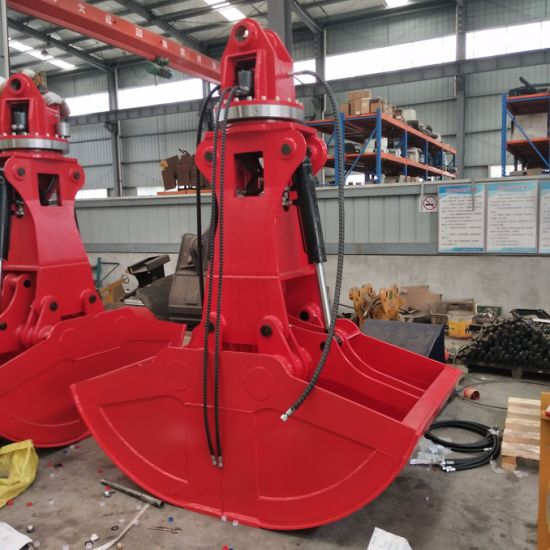 Excavator Attachments Excavator Rotary Clamshell Bucket Drawing