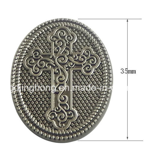 Good Quality Metal Cross Logo Sign Customized Label