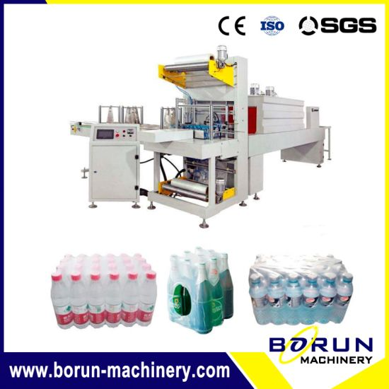 Automatic Pet Bottle PE Film Shrink Wrapping Packing Machine