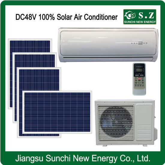 DC48V 100% Cooling Wall Split Solar Air Conditioner Solar Panels