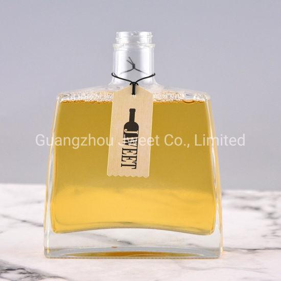 Custom Square Liquor Glass Bottle 70cl