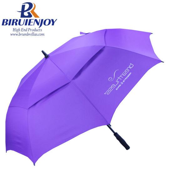 Stranger Big Vented Canopy Automatic Open Golf Umbrella with Custom Logo