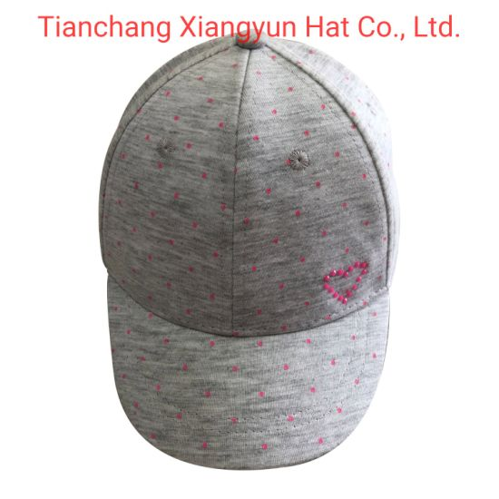 Baby Custom Fashion Cotton Jersey with Printed Dots Baseball Sports Cap pictures & photos