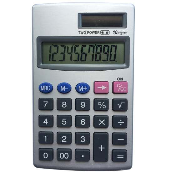 10 Digits Electronic Solar Calculator Student Stationery Office Supply pictures & photos