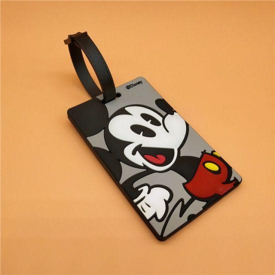 Customized PVC Rubber Luggage Tag Plastic Tag Cartoon Luggage Tag
