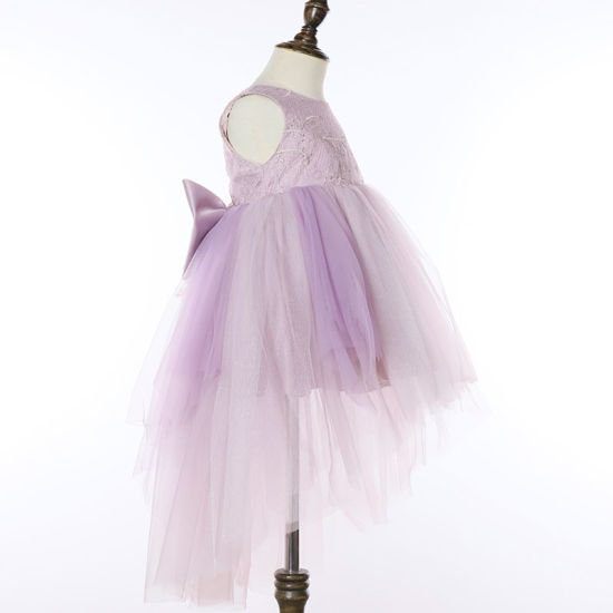 Kids Flower Net Lace Princess Tutu Dress Prom Girls Wedding Embroidered Dresses