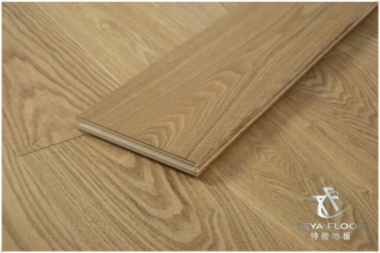 Ash Engineered Wood Flooring Nature Color Oak Floor Timber Hardwood Art Parquet Brusheduv Oil Uv Lacquer Polished