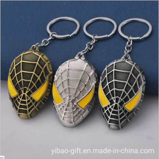 Wholesale Customized Spider-Man Zinc Alloy 3D Colorful Enamel Metal Key Ring Key Chain for Promotion Gifts (YB-MK-9)