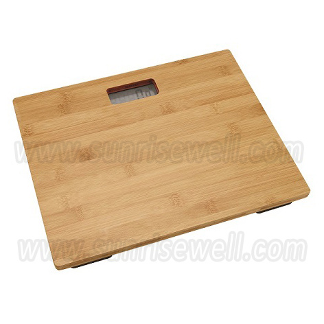 Electronic Digital Personal Weighing Body Scale with 10mm Bamboo Platform (SBE187)