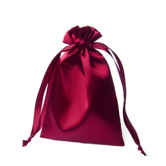 Silk Jewelry Gift Dust Pouch Wig Hair Packaging Drawstring Small Satin Bag pictures & photos