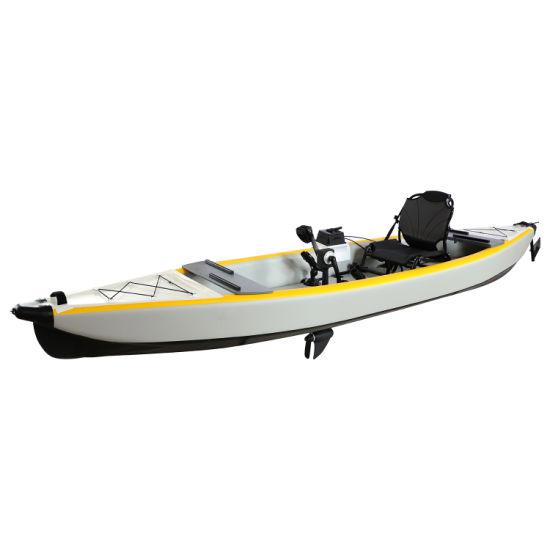 China Wholesale 4.20m Inflatable Foot Pedal Drive Fishing Kayak