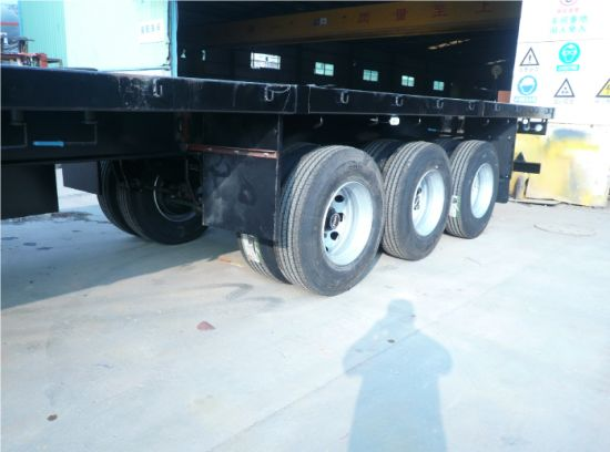 3 Axle Flatbed Semi - Trailer pictures & photos