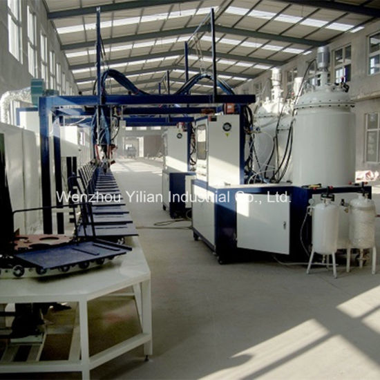 Two Head Double Density Conveyor Type PU Machine for Safety Shoes Making