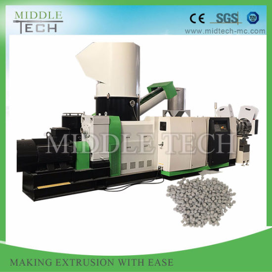 China Wholesale Price Waste HDPE Pipe/Bottle/Drum/Scraps Double Stage Plastic Granulator Machine
