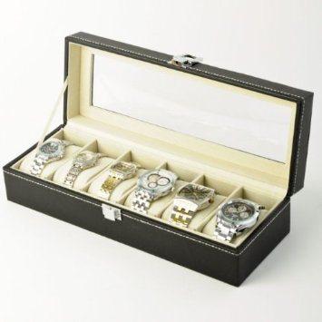 Watch Box, 6 PCS Watch Display, Wooden Watch Box (WB18)